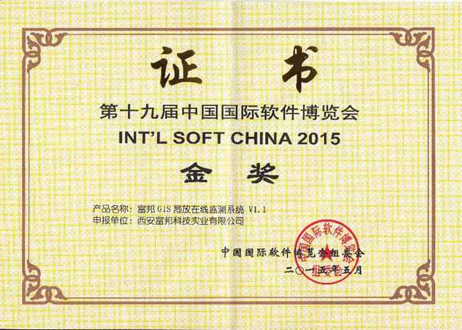 国际软件博览会金奖